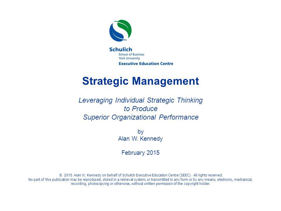 Strategic Management Leveraging Individual Strategic Thinking