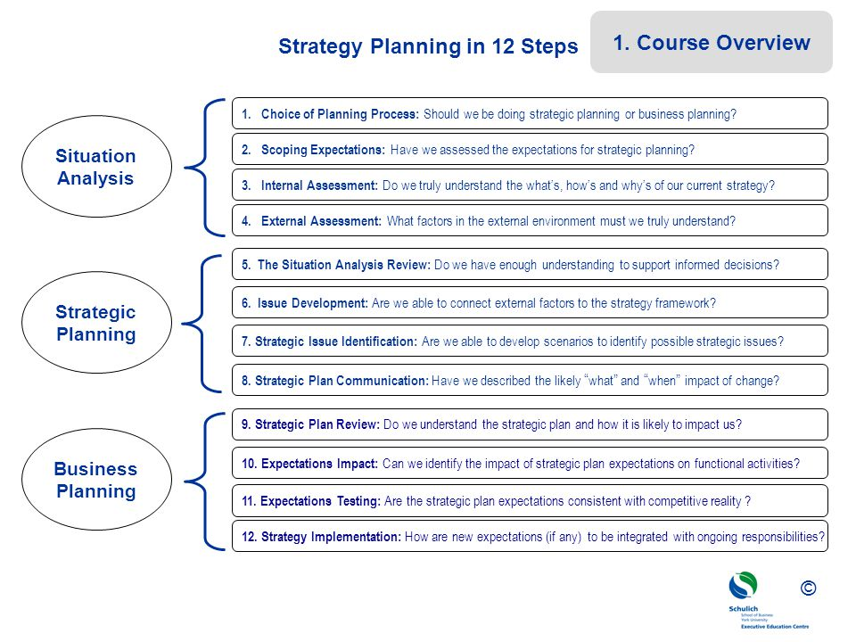 Strategy Planning in 12 Steps