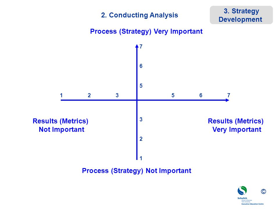 Process (Strategy) Very Important Process (Strategy) Not Important