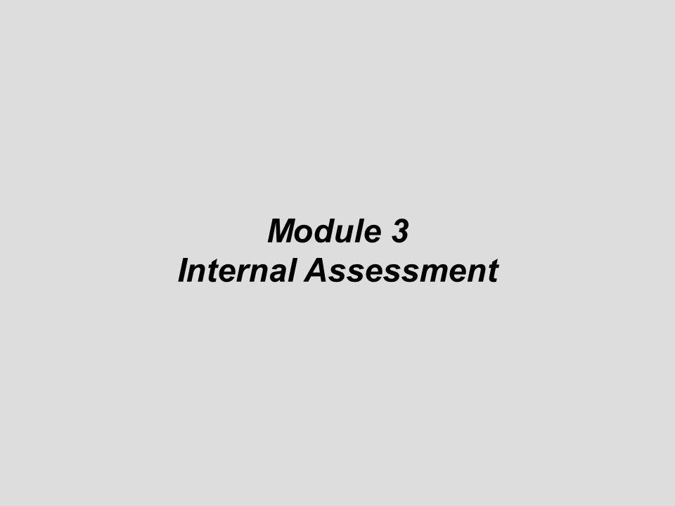 Module 3 Internal Assessment