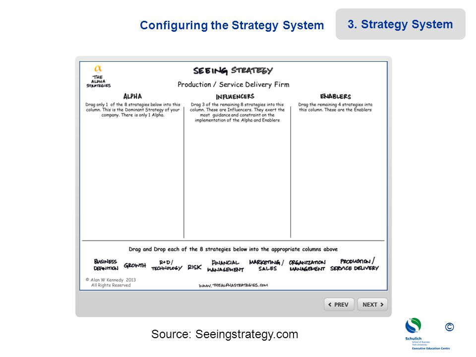 Configuring the Strategy System