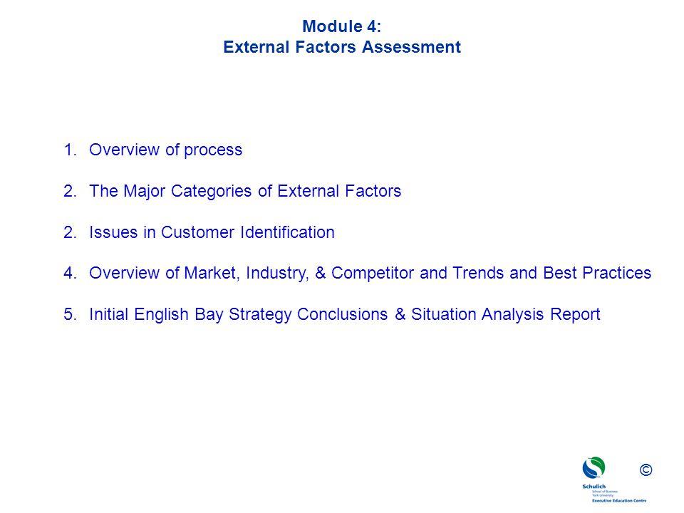 Module 4: External Factors Assessment