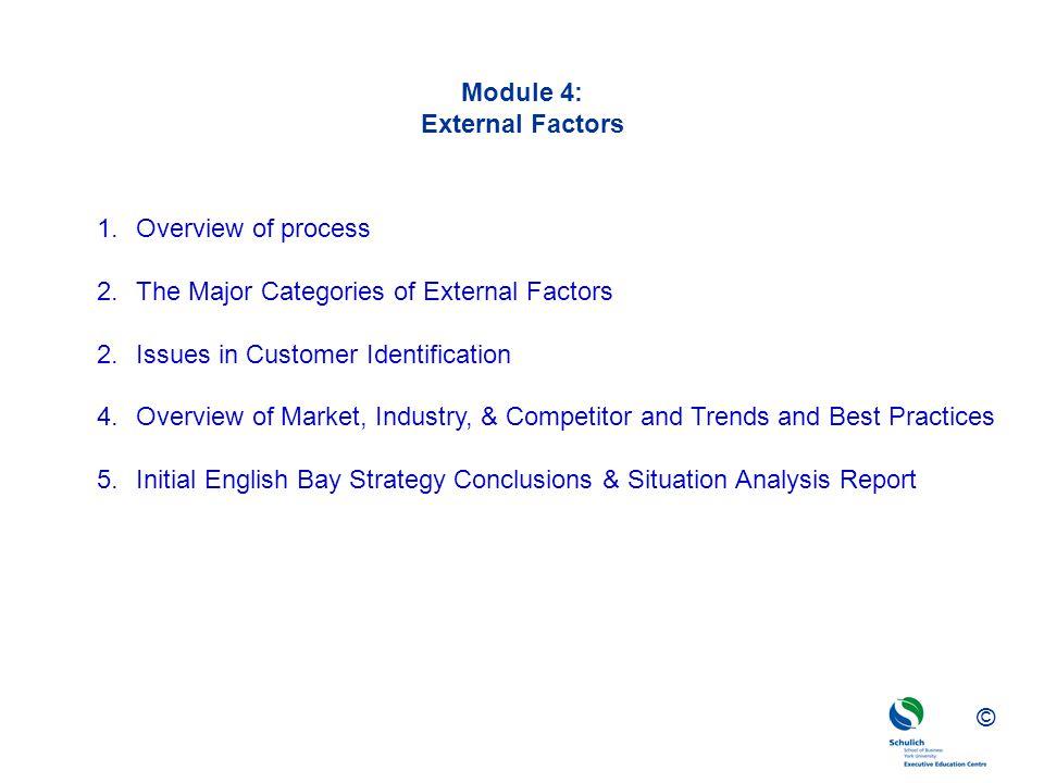 Module 4: External Factors