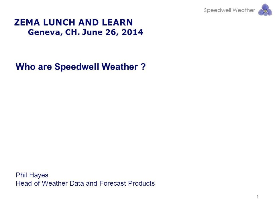 Who are Speedwell Weather
