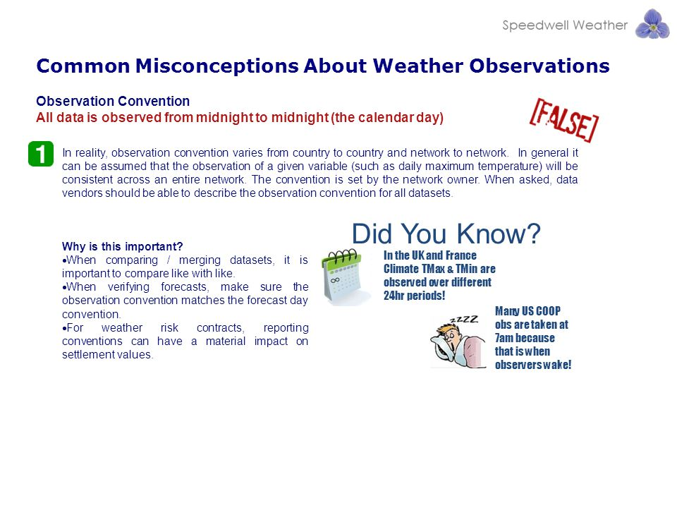 Did You Know Common Misconceptions About Weather Observations