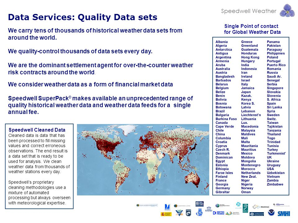 Data Services: Quality Data sets