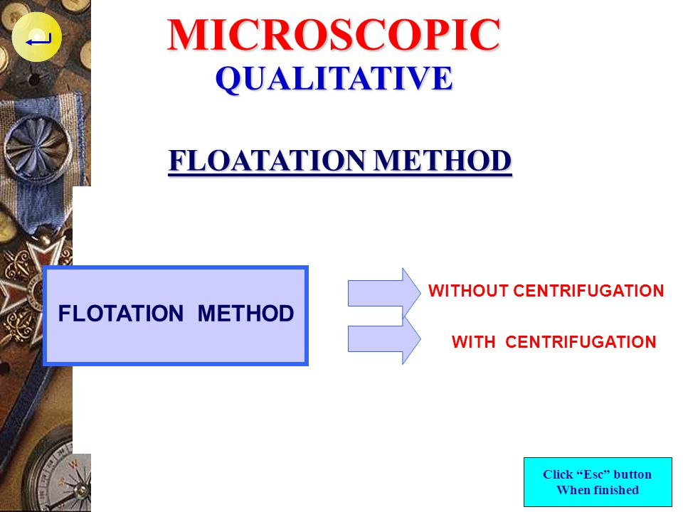 WITHOUT CENTRIFUGATION