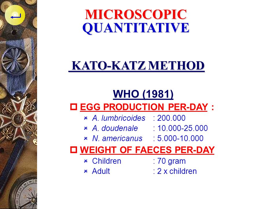 MICROSCOPIC QUANTITATIVE