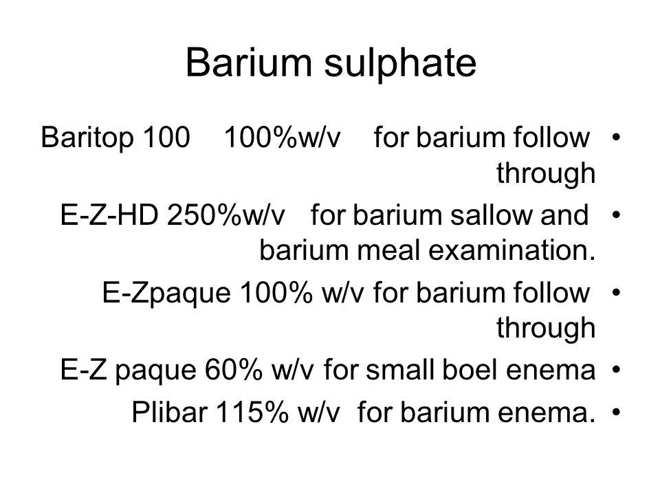 Barium sulphate Baritop 100 100%w/v for barium follow through