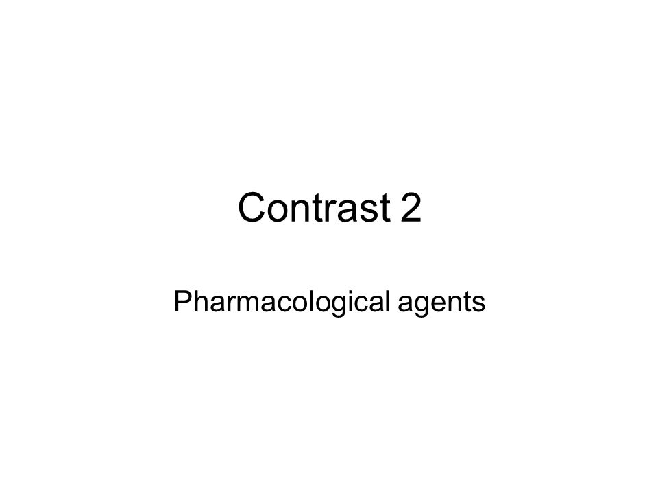 Pharmacological agents