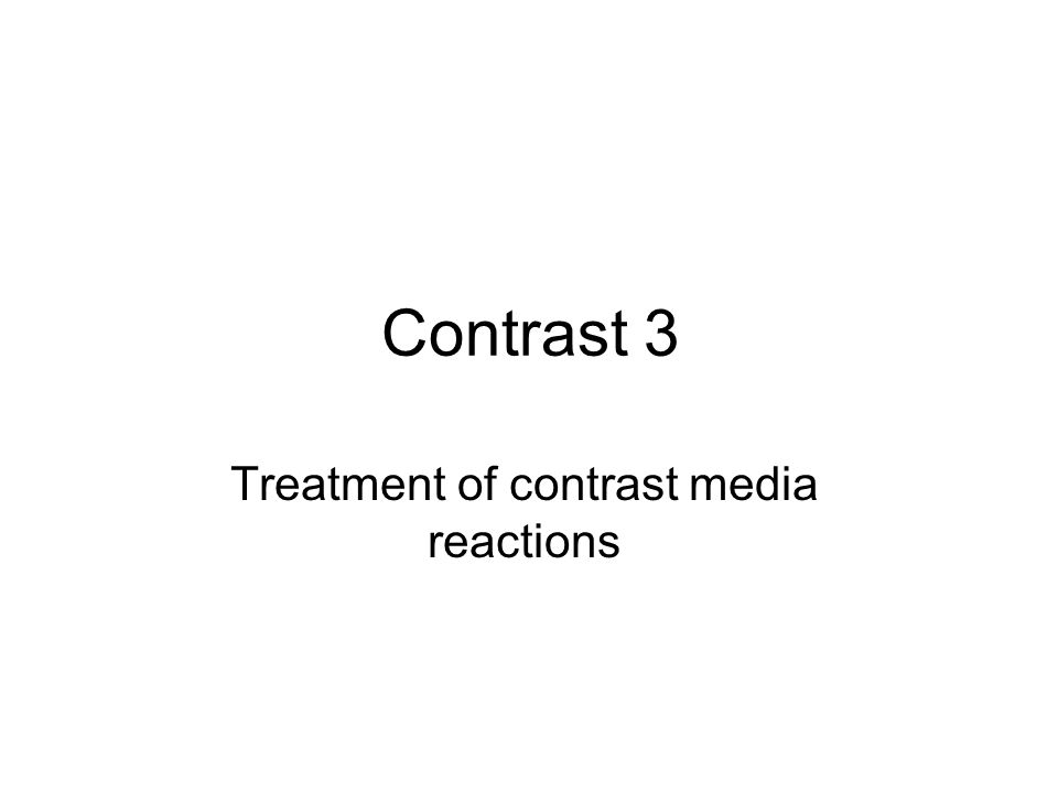 Treatment of contrast media reactions