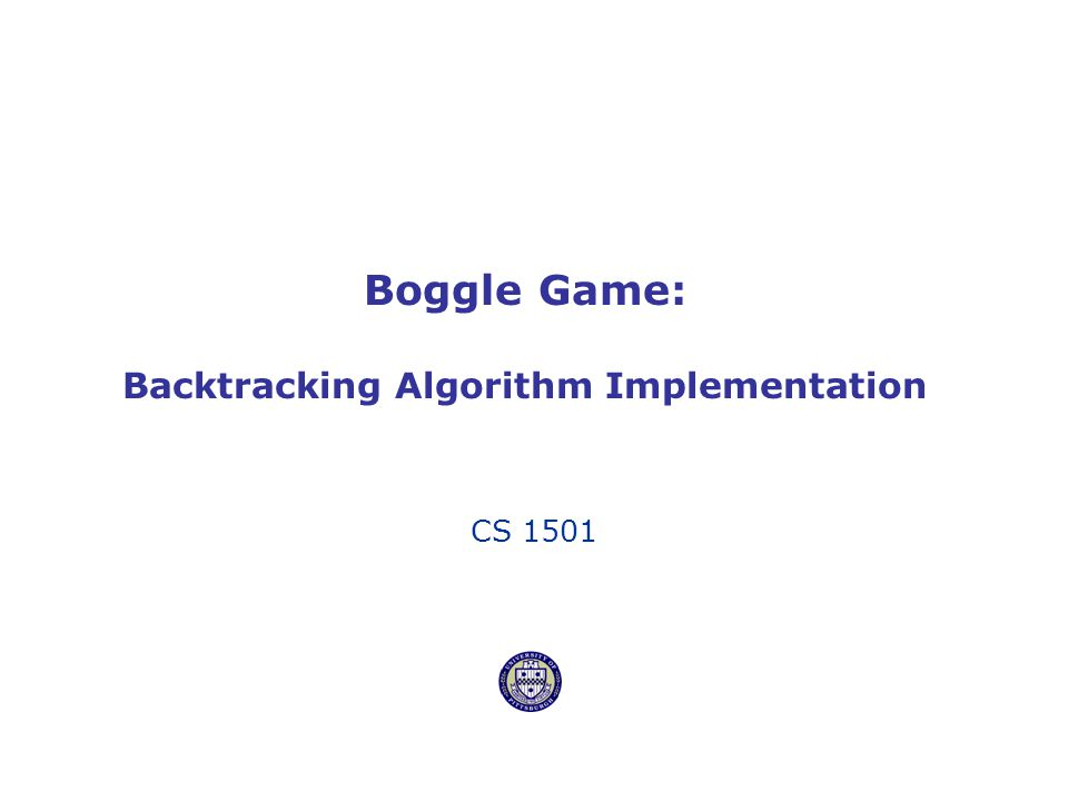 Boggle Game: Backtracking Algorithm Implementation