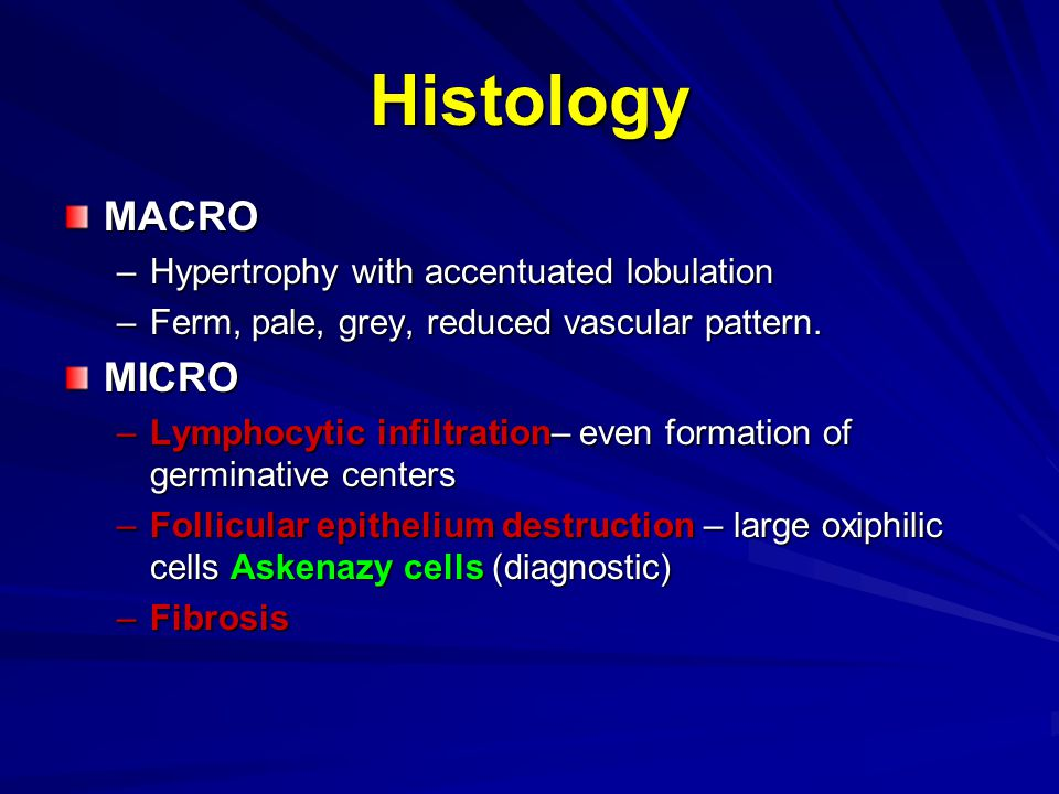Histology MACRO MICRO Hypertrophy with accentuated lobulation