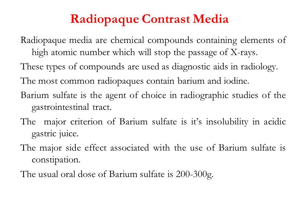 Radiopaque Contrast Media