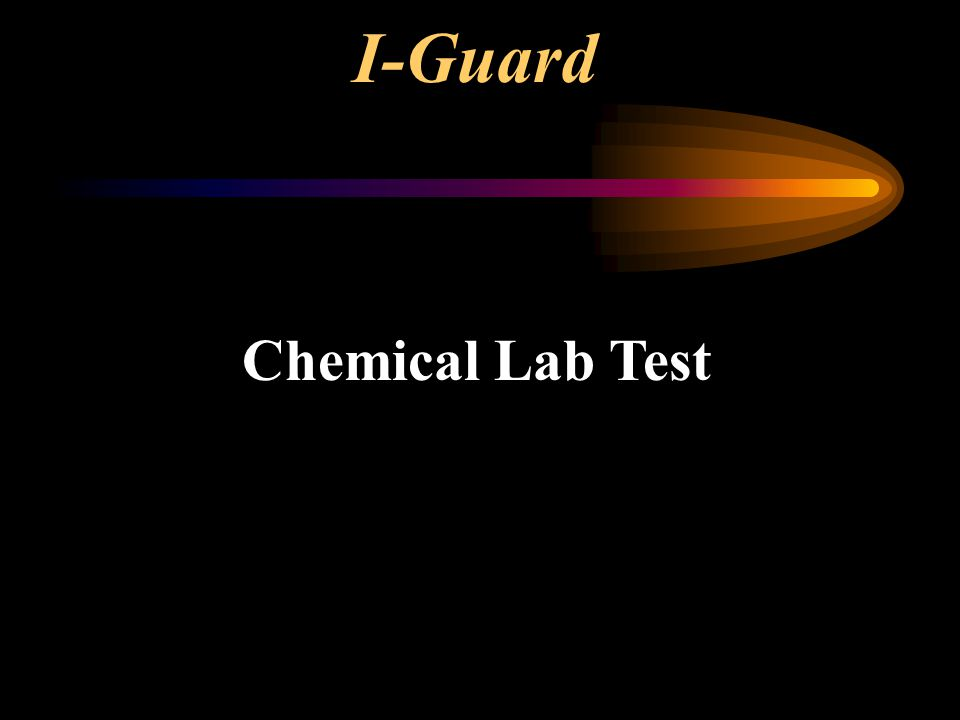 I-Guard Chemical Lab Test