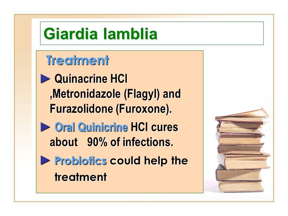 Giardia lamblia Treatment