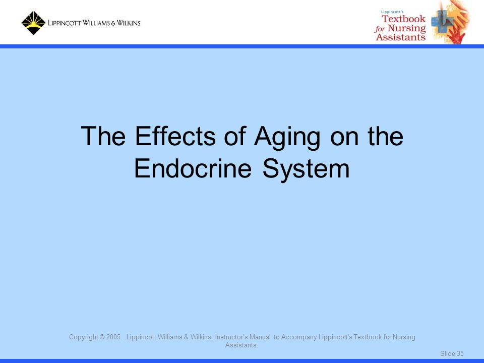 The Effects of Aging on the Endocrine System