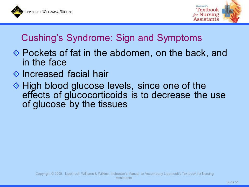 Cushing's Syndrome: Sign and Symptoms