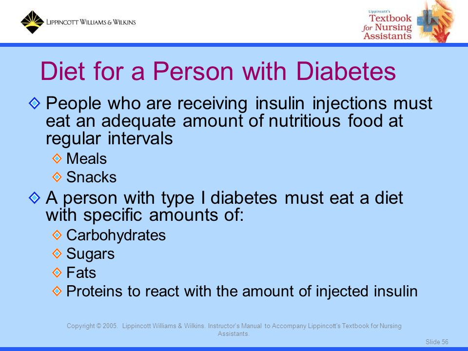 Diet for a Person with Diabetes