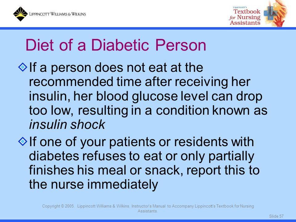 Diet of a Diabetic Person