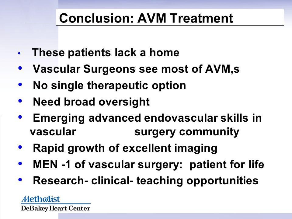 Conclusion: AVM Treatment