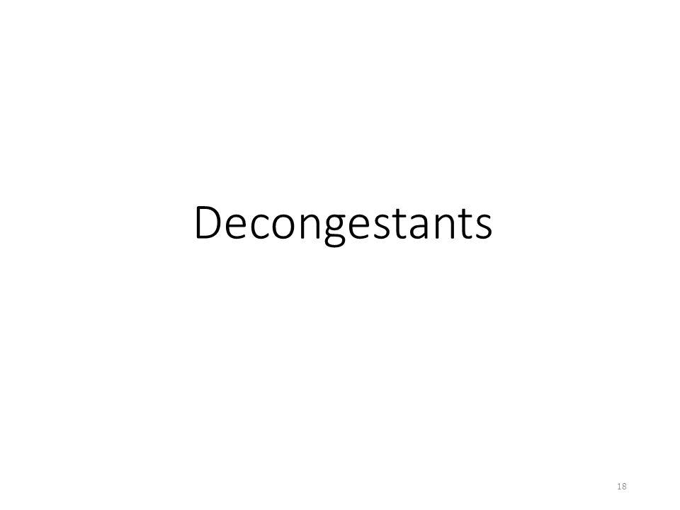 Decongestants