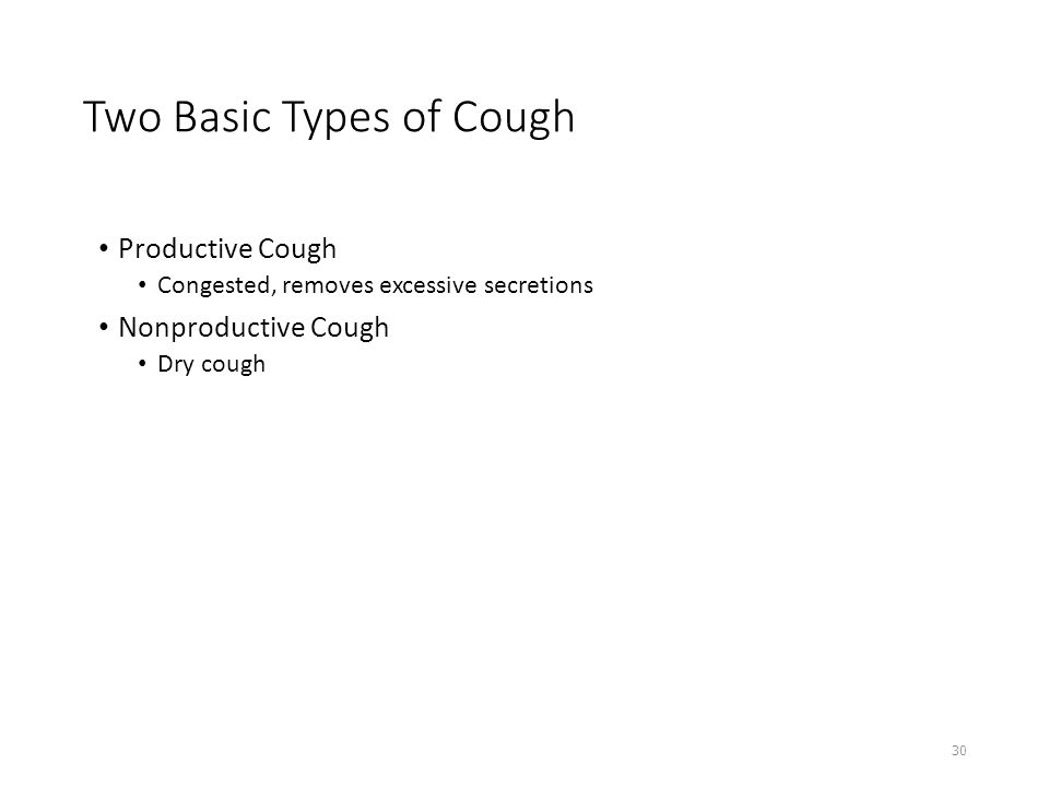 Two Basic Types of Cough