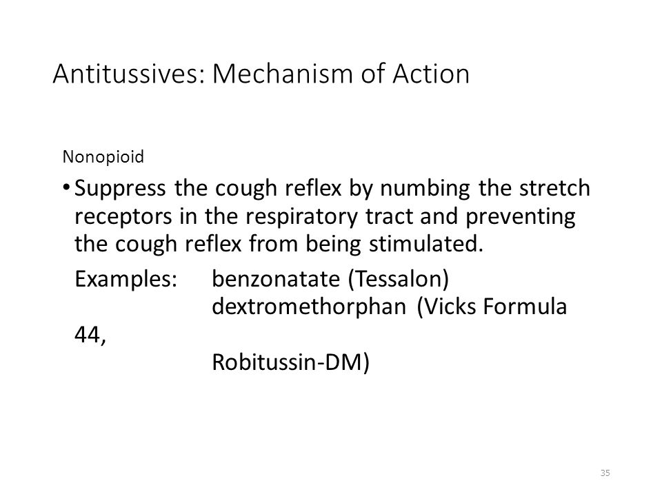 Antitussives: Mechanism of Action