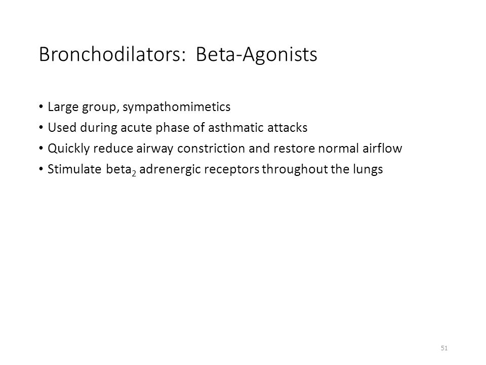 Bronchodilators: Beta-Agonists