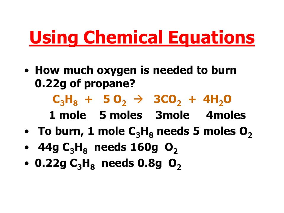 Using Chemical Equations