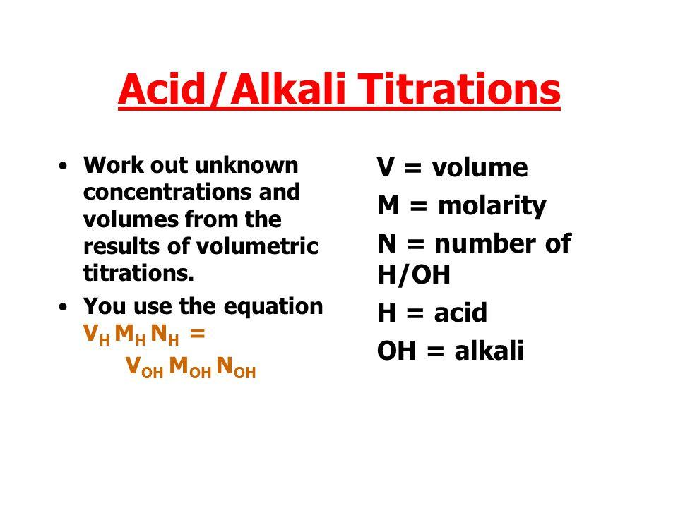 Acid/Alkali Titrations