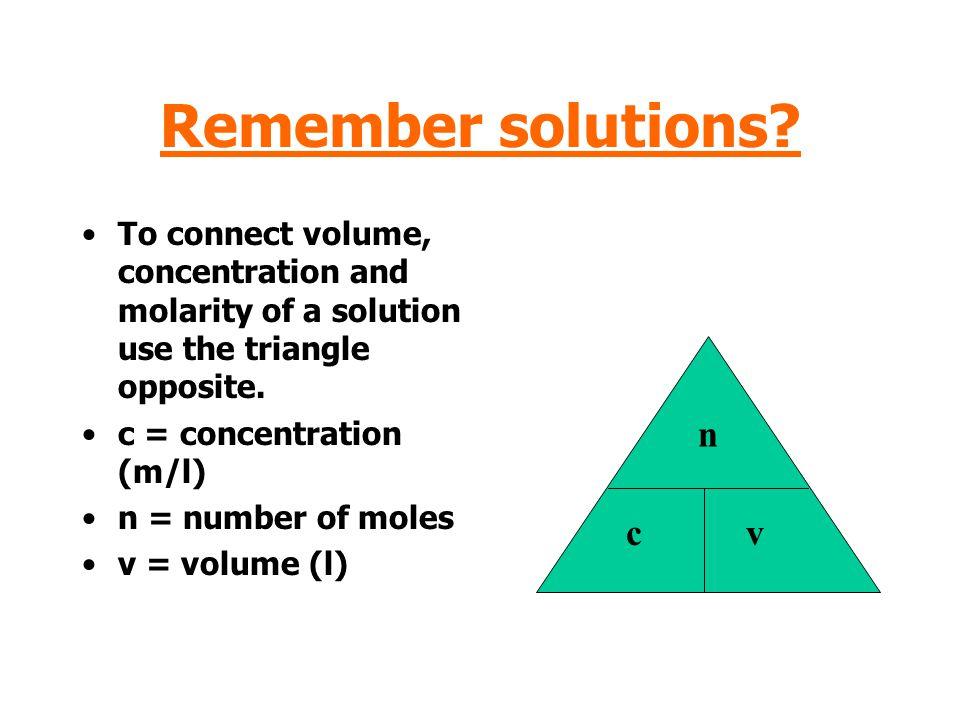 Remember solutions n c v
