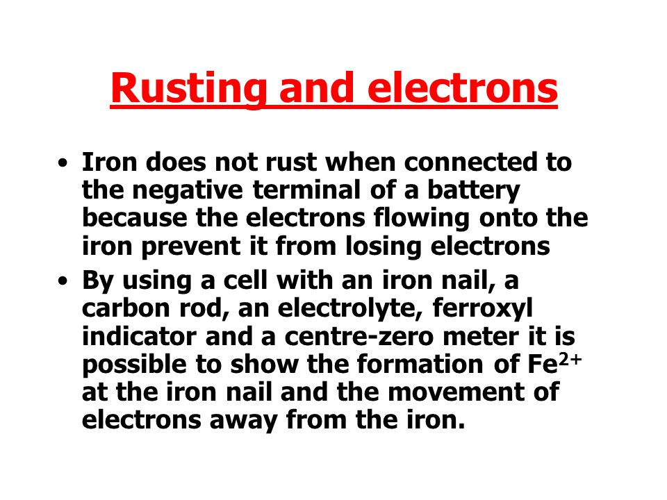 Rusting and electrons