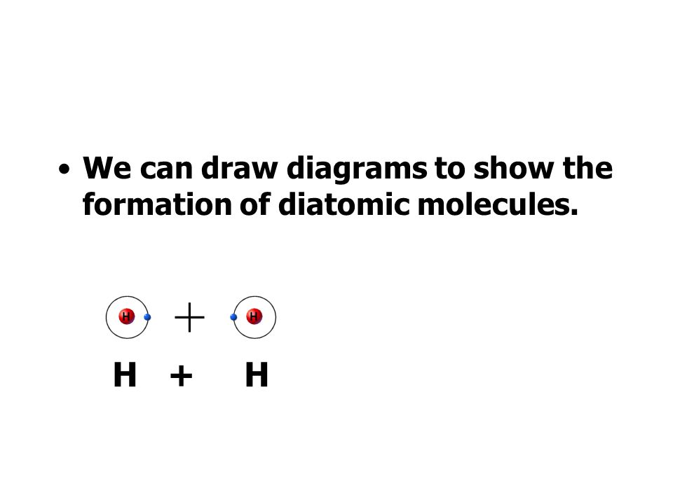 We can draw diagrams to show the formation of diatomic molecules.