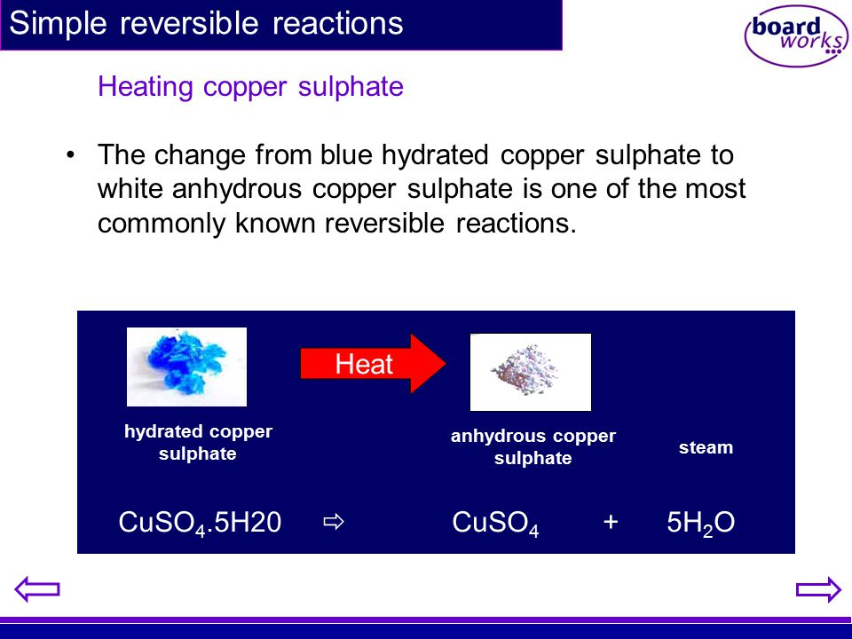Simple reversible reactions
