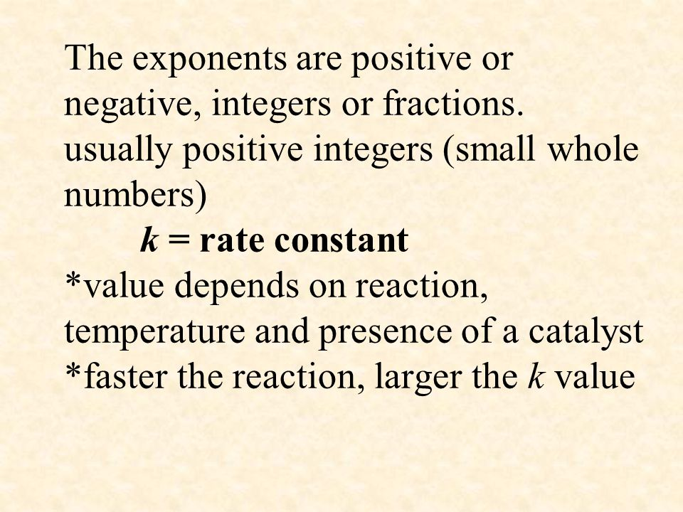 The exponents are positive or negative, integers or fractions
