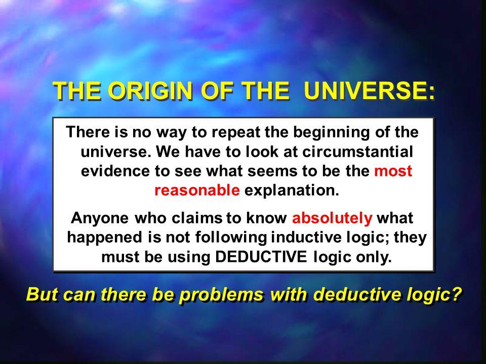 THE ORIGIN OF THE UNIVERSE: