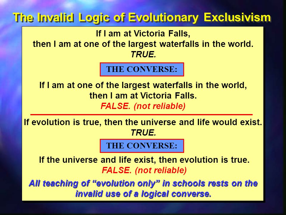 The Invalid Logic of Evolutionary Exclusivism