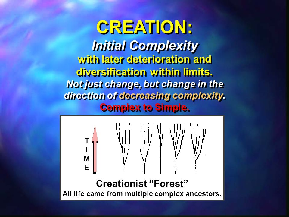 CREATION: Initial Complexity with later deterioration and