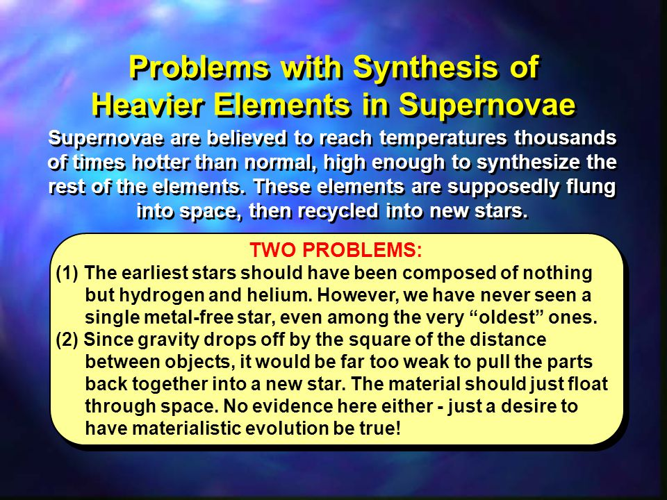 Problems with Synthesis of Heavier Elements in Supernovae