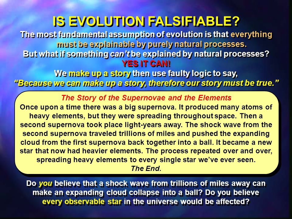IS EVOLUTION FALSIFIABLE