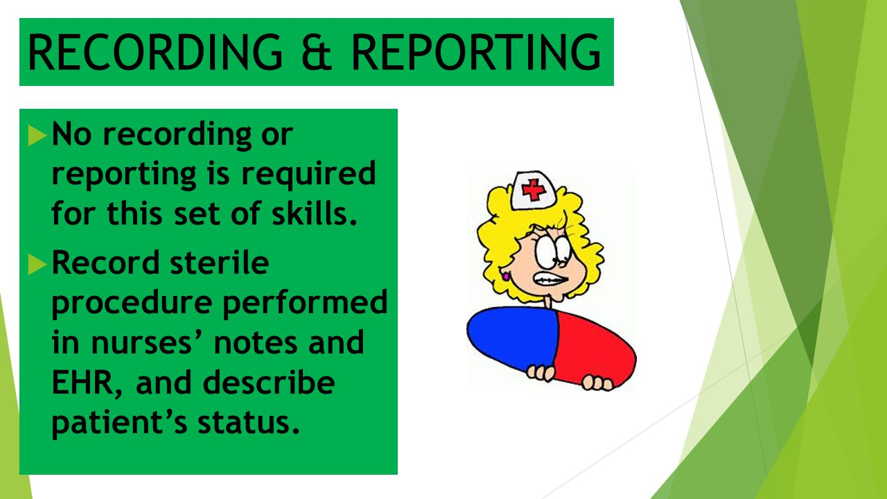 RECORDING & REPORTING No recording or reporting is required for this set of skills.