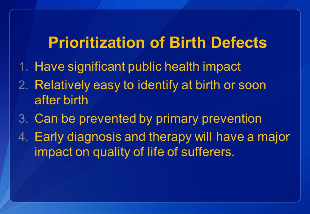 Birth Defects Priorities in Indonesia
