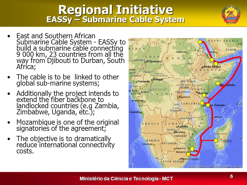 Regional Initiative EASSy – Submarine Cable System
