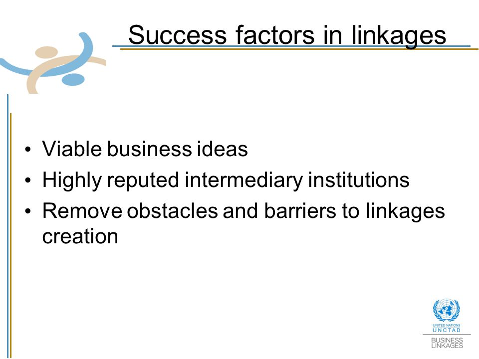 Success factors in linkages