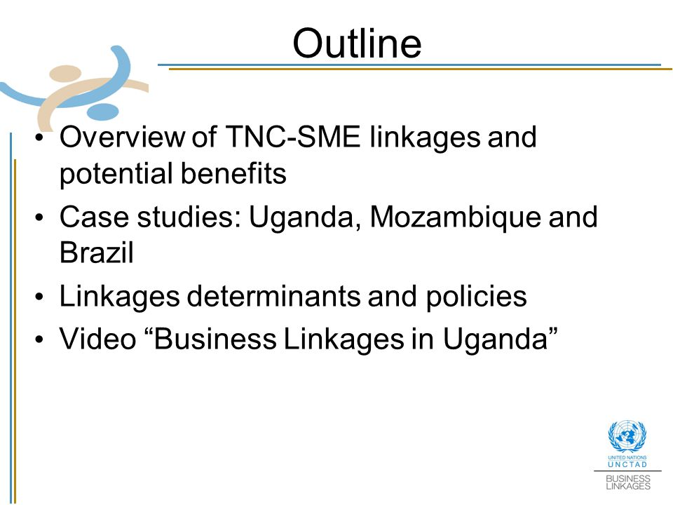 Outline Overview of TNC-SME linkages and potential benefits