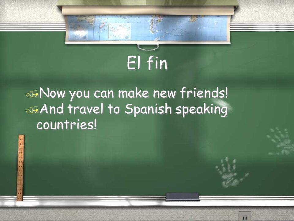El fin Now you can make new friends!