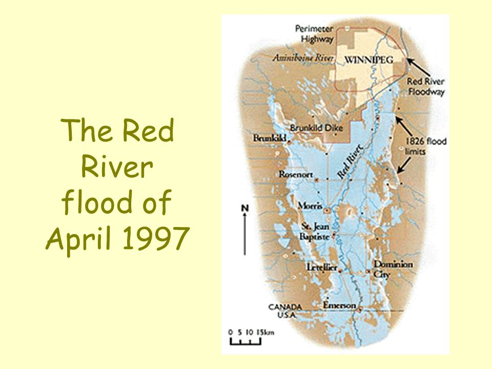 The Red River flood of April 1997