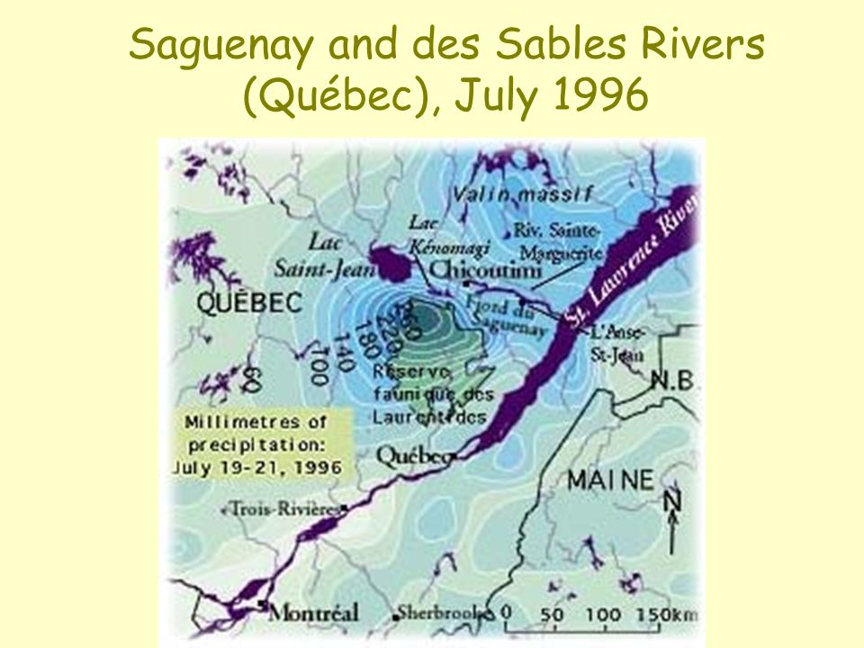 Saguenay and des Sables Rivers (Québec), July 1996