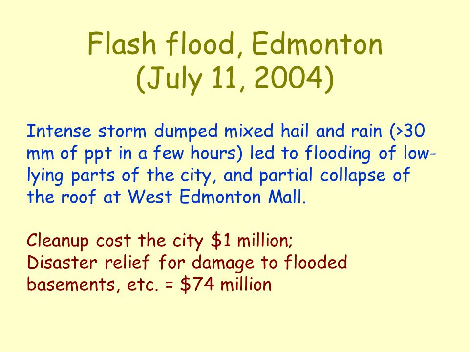 Flash flood, Edmonton (July 11, 2004)